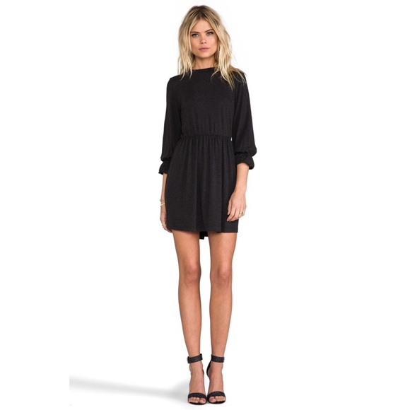 7bb993ea376 Anine Bing High Collar Dress in Charcoal